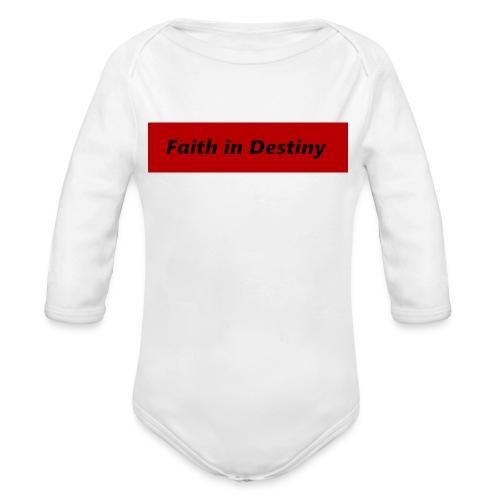 La fe en el destino - Body orgánico de manga larga para bebé
