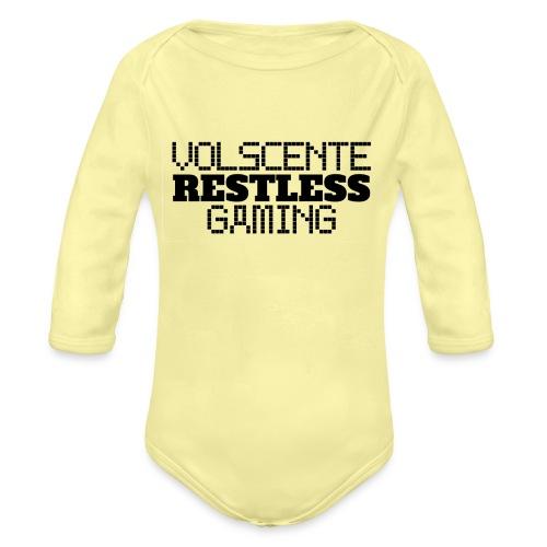 Volscente Restless Logo B - Body ecologico per neonato a manica lunga