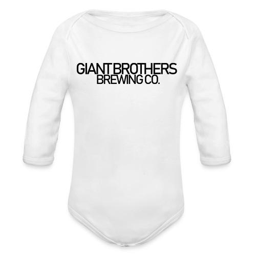 Giant Brothers Brewing co SVART - Ekologisk långärmad babybody