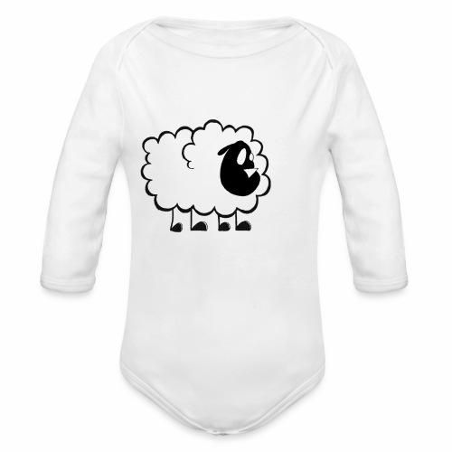 Pequeña Oveja - Body orgánico de manga larga para bebé