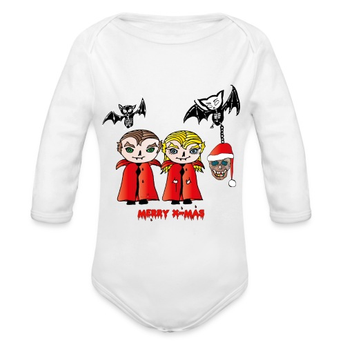 Frohe Weihnachten - Baby Bio-Langarm-Body