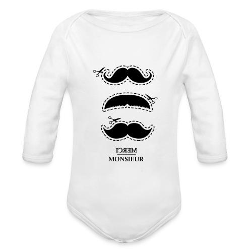 multi moustache MM png - Body Bébé bio manches longues