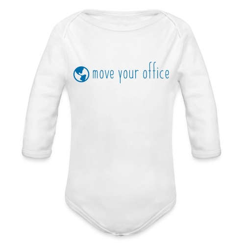 Das offizielle move your office Logo-Shirt - Baby Bio-Langarm-Body