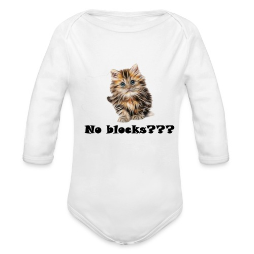 No block kitten - Økologisk langermet baby-body