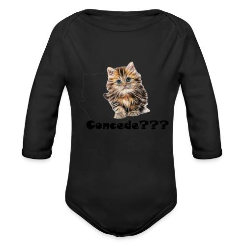 Concede kitty - Økologisk langermet baby-body
