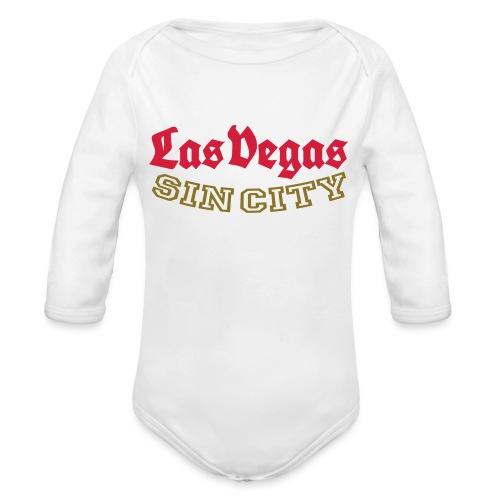 LAS VEGAS SIN CITY - Organic Longsleeve Baby Bodysuit
