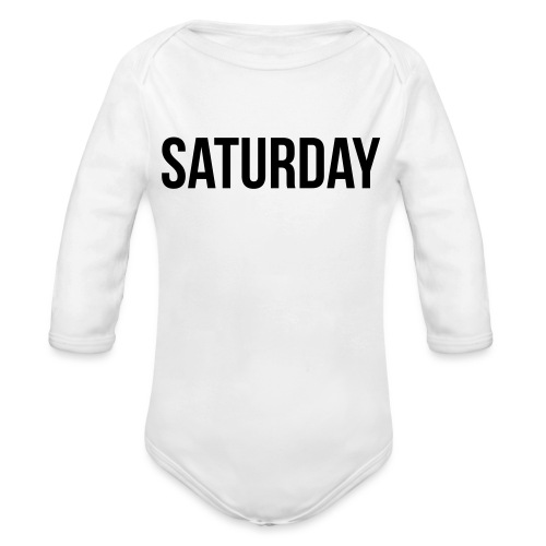 Saturday - Organic Longsleeve Baby Bodysuit