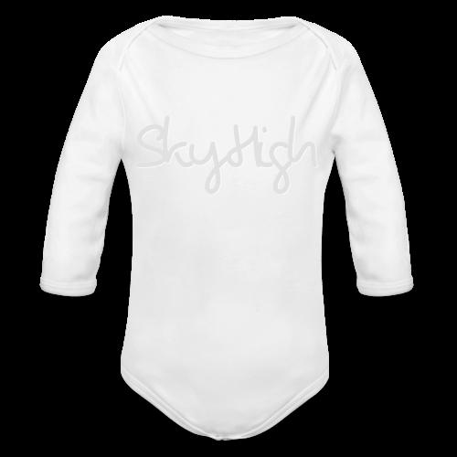 SkyHigh - Men's T-Shirt - Gray Lettering - Organic Longsleeve Baby Bodysuit
