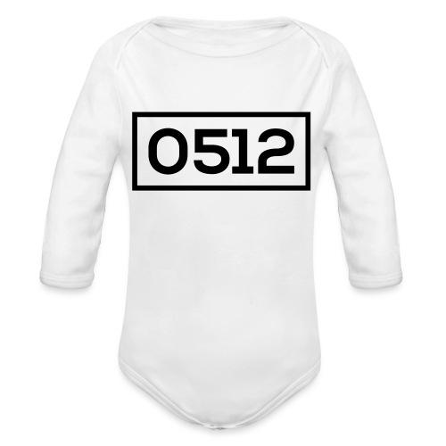 0512 - Baby bio-rompertje met lange mouwen