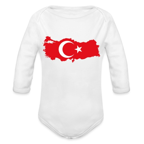 Tyrkern - Langærmet babybody, økologisk bomuld