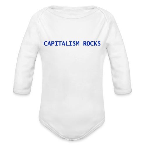 CAPITALISM ROCKS - Body ecologico per neonato a manica lunga