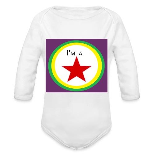 I'm a STAR! - Organic Longsleeve Baby Bodysuit