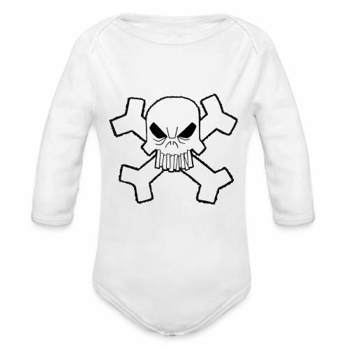 Craneo - Body orgánico de manga larga para bebé