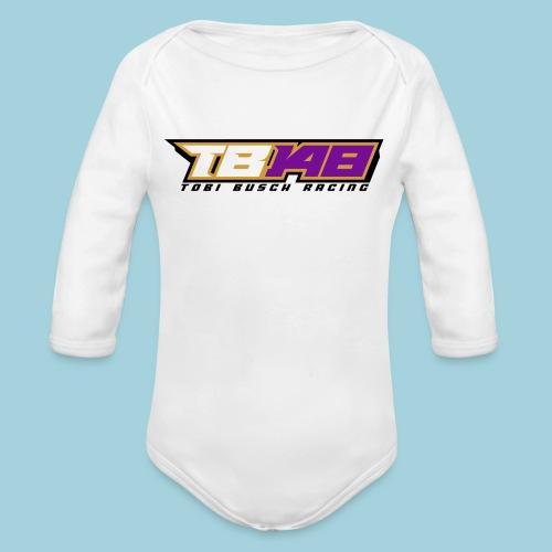 Tobi Logo schwarz - Baby Bio-Langarm-Body