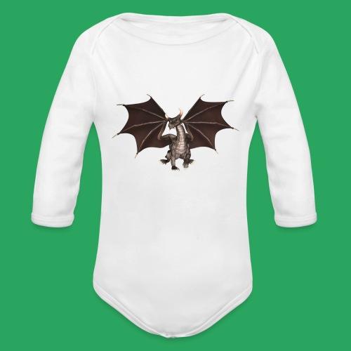 dragon logo color - Body ecologico per neonato a manica lunga