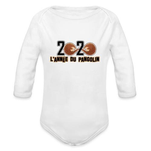 2020, année du pangolin - Body Bébé bio manches longues