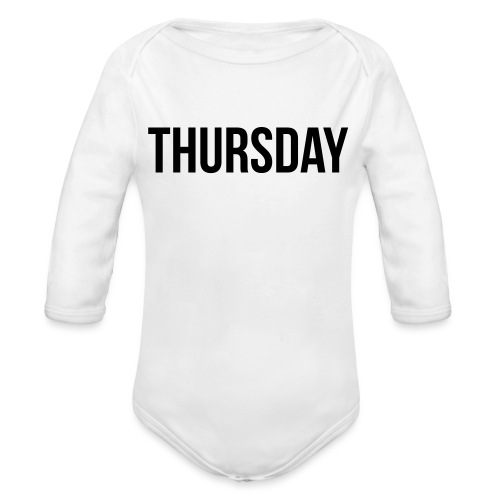 Thursday - Organic Longsleeve Baby Bodysuit