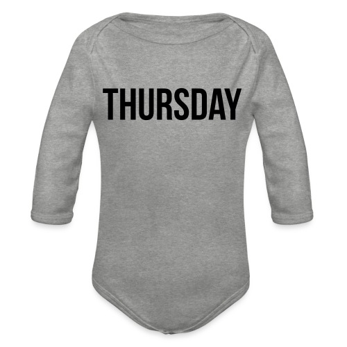 Thursday - Organic Longsleeve Baby Bodysuit