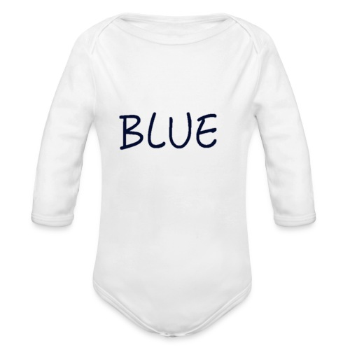 BLUE - Baby bio-rompertje met lange mouwen