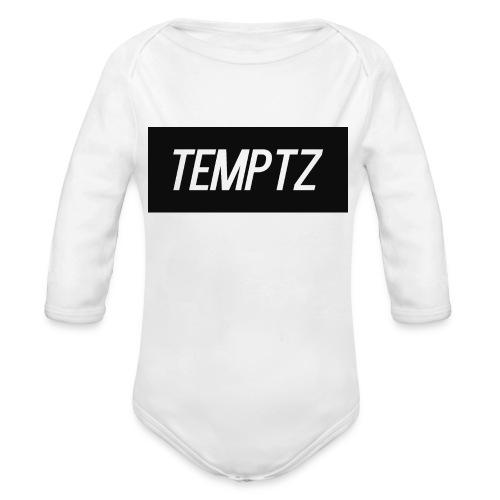 TempTz Orignial Hoodie Design - Organic Longsleeve Baby Bodysuit