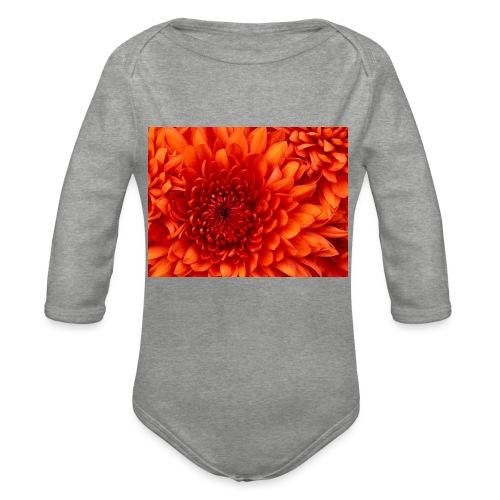 Chrysanthemum - Baby bio-rompertje met lange mouwen