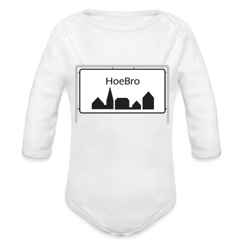 Hoebro - Langærmet babybody, økologisk bomuld