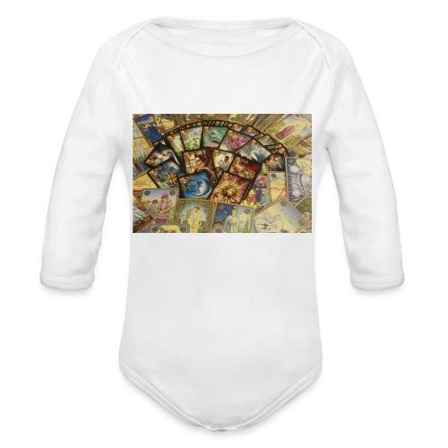 oracle throw pillow - Organic Longsleeve Baby Bodysuit