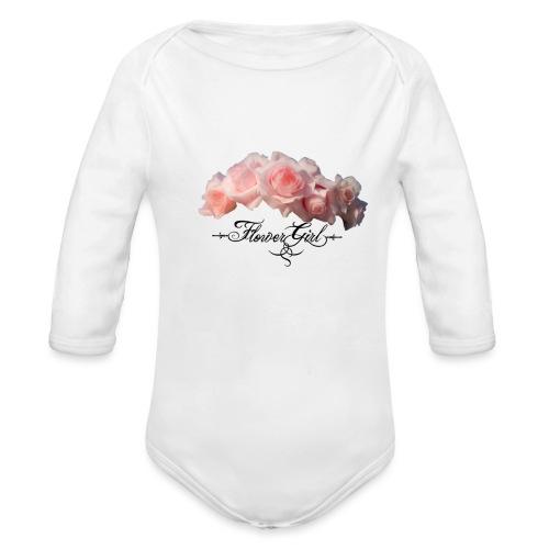 flower girl - Langærmet babybody, økologisk bomuld