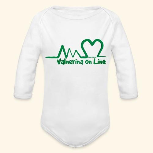 logo verde Associazione Valnerina On line - Body ecologico per neonato a manica lunga