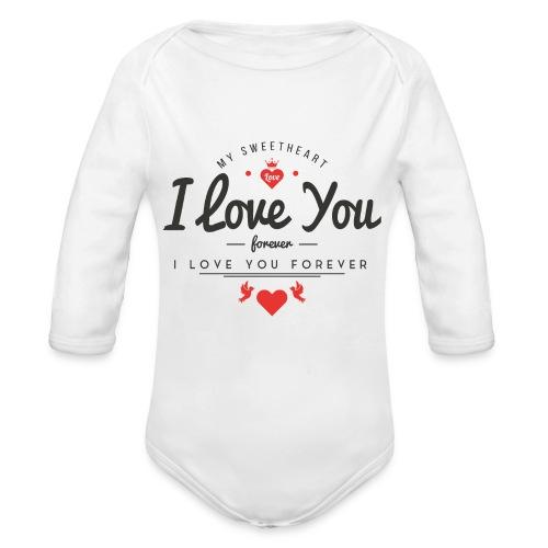 my sweetheart1 - Ekologiczne body niemowlęce z długim rękawem