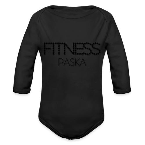 FITNESS PASKA - Vauvan pitkähihainen luomu-body