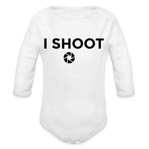 I shoot people - Organic Longsleeve Baby Bodysuit