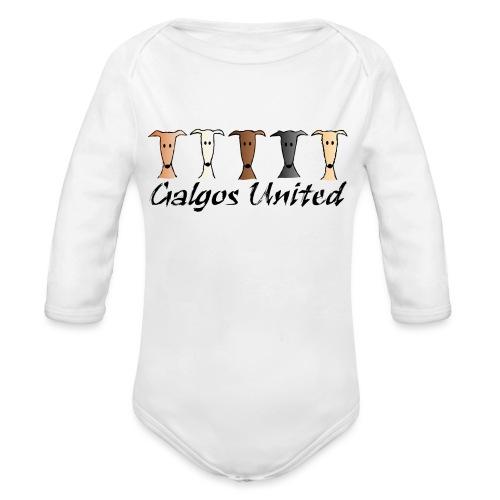 Galgos united - Baby Bio-Langarm-Body