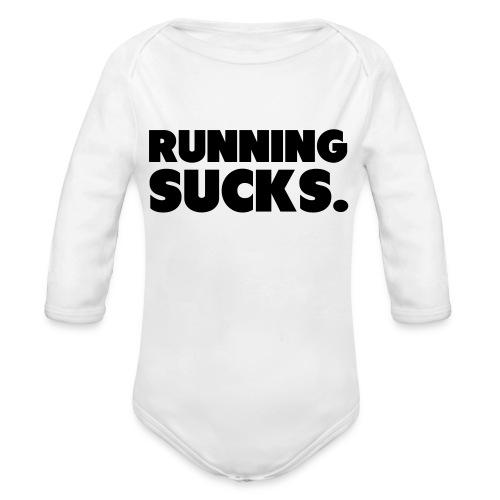 Running Sucks - Vauvan pitkähihainen luomu-body