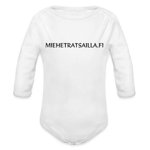 miehetratsailla - Vauvan pitkähihainen luomu-body