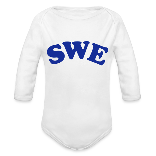 T-shirt, SWE - Ekologisk långärmad babybody