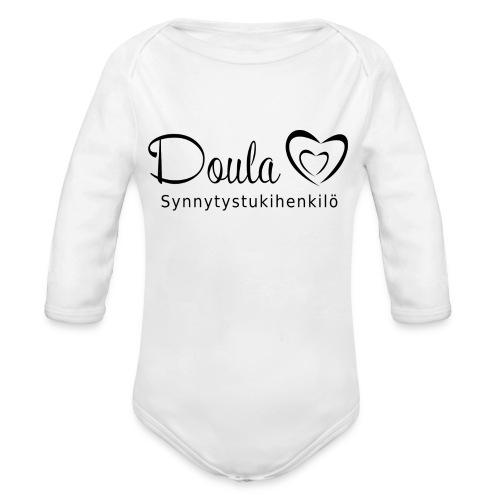 doula sydämet synnytystukihenkilö - Vauvan pitkähihainen luomu-body