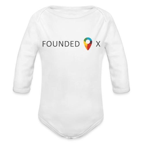 FoundedX logo png - Organic Longsleeve Baby Bodysuit