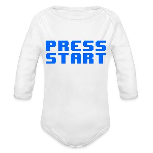 Press Start - Body ecologico per neonato a manica lunga