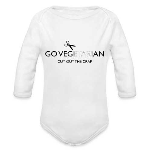 Go Vegan cut out the crap - Organic Longsleeve Baby Bodysuit