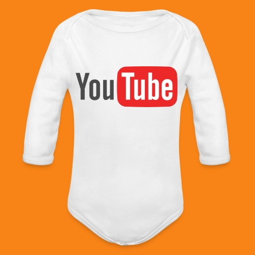 Youtube-logo-2014 - Body orgánico de manga larga para bebé