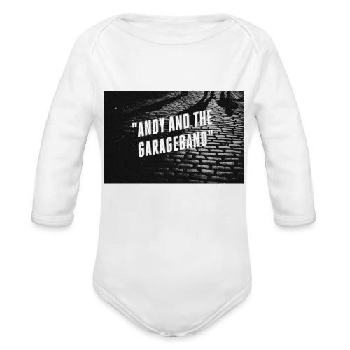 Black and White - Økologisk langermet baby-body
