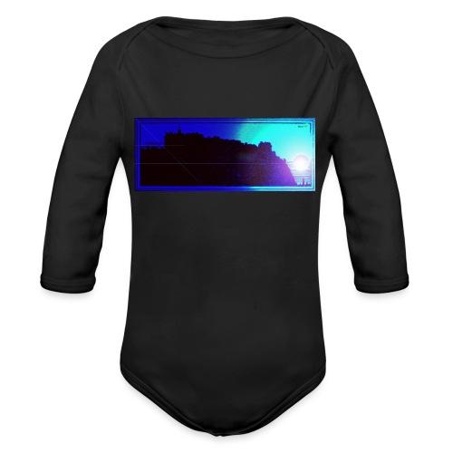 Silhouette of Edinburgh Castle - Organic Longsleeve Baby Bodysuit
