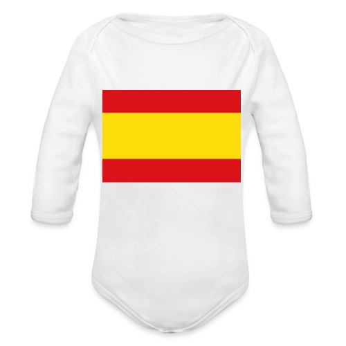 vlag van spanje - Baby bio-rompertje met lange mouwen
