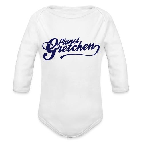 Planet Gretchen svart - Ekologisk långärmad babybody