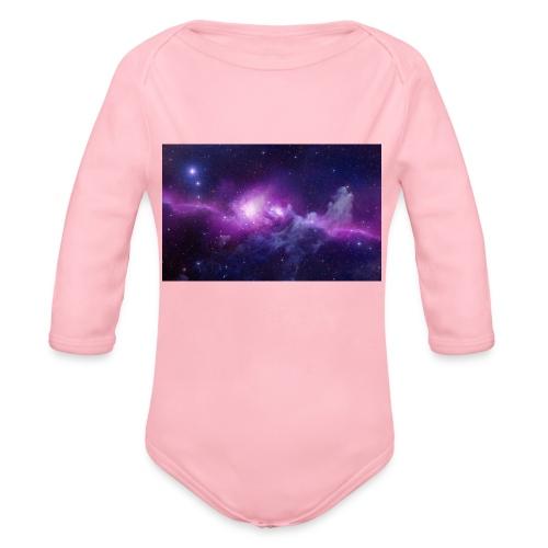 tshirt galaxy - Body Bébé bio manches longues