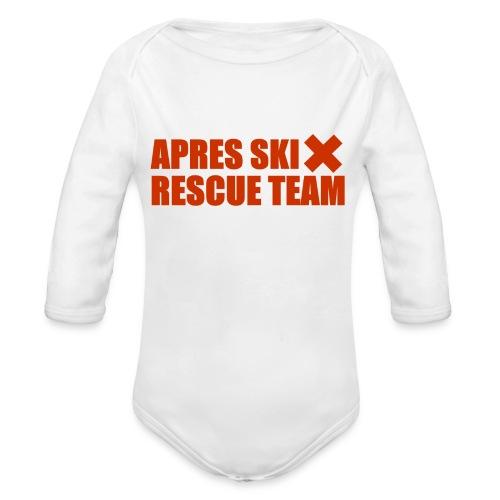 apres-ski rescue team - Baby bio-rompertje met lange mouwen
