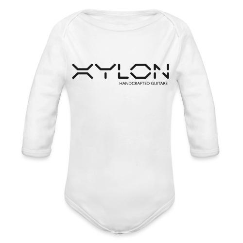 Xylon Handcrafted Guitars (plain logo in black) - Organic Longsleeve Baby Bodysuit