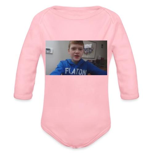 roel t-shirt - Baby bio-rompertje met lange mouwen