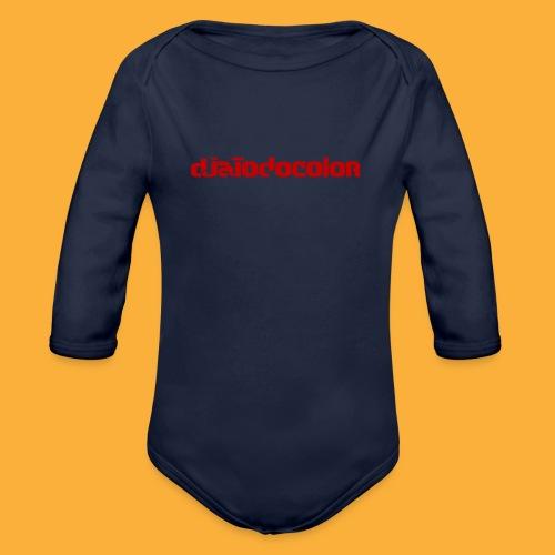 DJATODOCOLOR LOGO ROJO - Body orgánico de manga larga para bebé